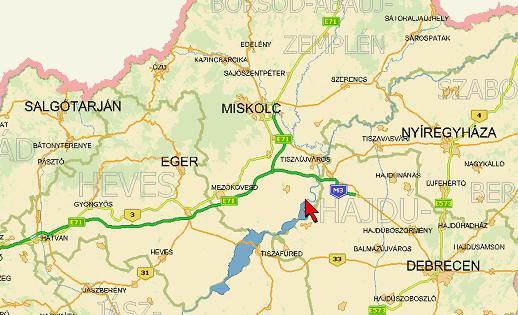 mezőcsát térkép Toronyiránt mezőcsát térkép